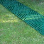 Дорожка из пластиковых плиток для сборки на даче или в саду